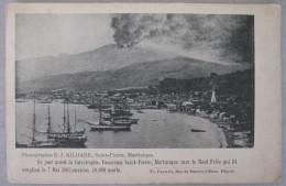 1902, Le Jour Avant La Catastrophe, Panorama Saint-Pierre, Avec Le Mont-Pelé .. - 2 Scans - Martinique