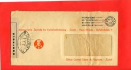 SUISSE HELVETIA 1 MAI 1945 CONTROLE POSTAL MILITAIRE ZURICH - Switzerland