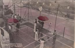 DOS FOTOPOSTALES LAS PALMAS LAWN TENNIS COURTS LOS CANARIOS RARE - Tenis