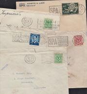 C0121 BELGIUM, 5 @ 1950s Covers To UK - Belgium