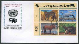 1997 O.N.U. Vienna, F.D.C. Animali In Perico Estinzione, Serie Completa - FDC