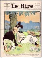 REVUE LE RIRE - JUILLET 1903 - N° 22 - IDYLLE - INSTITUTIONS REPUBLICAINES - ILLUSTREE PAR METIVET , DELAW - Livres, BD, Revues