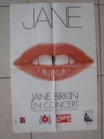 MUSIQUE - AFFICHE CONCERT JANE BIRKIN - TOURNEE 1996 - FORMAT 59 X40 Cm - Posters