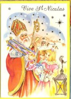 Saint NICOLAS & SINT NILAAS & SANTA KLAUS    Avec Sa Crosse Jouet  Enfants - Santa Claus