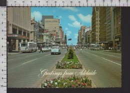 S5092 AUSTRALIA GREETINGS FROM ADELAIDE KING WILLIAM STREET VG - Adelaide