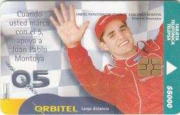 COLOMBIA(chip) - Montoya, Telepsa Telecard $5000, Tirage 5000, Used - Colombia