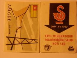 Yugoslavia 2 Pieces Matchbox Labels - Boites D'allumettes - Etiquettes