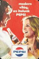PEPSI * COLA * SOFT DRINK * WOMAN * GIRL * BUDAPEST * CALENDAR * FAJV 1973 * Hungary - Calendarios