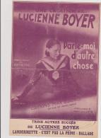 (g5)parle-moi D'autre Chose , LUCIENNE BOYER , Paroles Et Musique : JEAN DELETTRE - Partitions Musicales Anciennes