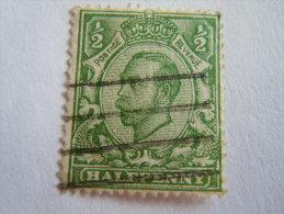 Groot Brittanië Grande-Bretagne Great Britain 1912 George V Filigrane Crown GvR E Yv 134 O - 1902-1951 (Koningen)