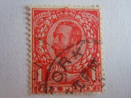 Groot Brittanië Grande-Bretagne Great Britain 1912 George V Filigrane Crown GvR E Yv 136 O - 1902-1951 (Koningen)