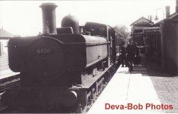 Railway Photo GWR 64xx 6426 Blackwood 1958 BR 0-6-0PT Loco - Trains