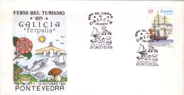 FERIA DE TURISMO,FISH, MUSHROOM,PONTEVEDRA,COVER FDC,1995, SPANIA - Holidays & Tourism
