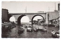 CPSM Photo Marseille 13 Bouches Du Rhône Pont Et Vallon Des Auffes Tramway Bateaux édit A Tardy N°535 Non écrite - Endoume, Roucas, Corniche, Plages