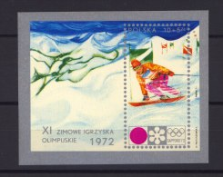 Pologne  -  Blocs  -  1972  :  Mi  49  **  JO Sapporo - Blocks & Sheetlets & Panes