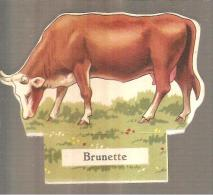 La Ferme- Le Petit Grosjean Et La Vache Sérieuse BRUNETTE - Victorian Die-cuts