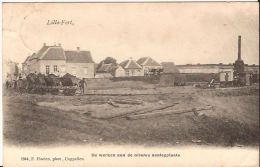 LILLO FORT De Werken Aan Nieuwe Aanlegplaats Met Kipkarren Hoelen 1944 Stempel 1906 - Antwerpen
