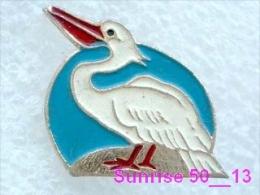 Animals: Bird Pelican - Pelicanus / Soviet Badge _35_an2222 - Animals