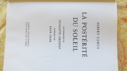 CAMUS CHAR GRINDAT LA POSTERITE DU SOLEIL 30 PHOTOGRAPHIES LUBERON ISLE SUR SORGUE - Alpes - Pays-de-Savoie