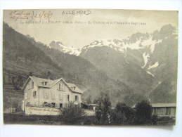 Cpa, Très Belle Vue, Le Rivier D'Allemont, Le Château Et La Chaine Des Sept Laux - Autres Communes