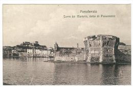 CARTOLINA - PORTOFERRAIO - ELBA - TORRE DEL MARTELLO DETTA DI PASSANANTE -  VIAGGIATA 1912 - Livorno