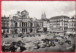 CPSM 49 ANGERS Place Du Ralliement Le Théâtre Au Fond La Cathédrale Voitures 4Cv Traction * Format CPM - Angers