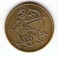SAGITTARIUS LOGO VERY NICE VINTAGE TOKEN,JETON,GETTONE - Jetons & Médailles
