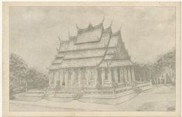 Laos  Vientiane  Vat Phra Keo Edit Institut Bouddhique Dessin - Laos