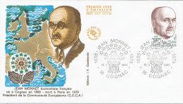 F.D.C. JEAN MONNET (Oblit. PARIS Du 15.3.1980) - FDC