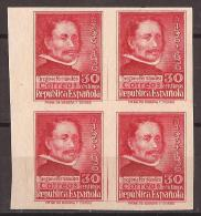 ES726s-L2123TPRO.CENTENARIO  ESCULTOR GREGORIO FERNANDEZ.1937. (Ed 726s**BL4,) Sin Charnela.MAGNIFIC - Profesiones