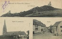67 SOUVENIR DE SCHERVILLE - LES CHATEAUX - EGLISE ET PRESBYTERE - PARTIE - Scherwiller - France