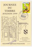 """Carte Locale - Journée Du Timbre 1999 - 3,00F ASTERIX - AVIGNON - Signée """"Sireta"""" Dessinateur De La Carte - Stamp's Day"""