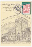 Carte Locale - Journée Du Timbre 1998 - Type Blanc - CARPENTRAS (Vaucluse) - France