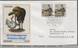 GERMANY  -    WILHELM   HAUFF - FDC: Briefe