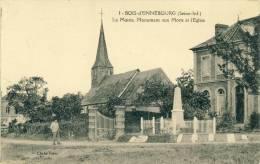 Bois-d'Ennebourg  La Mairie.Monument Aux Morts Et L'Eglise  Cpa - Autres Communes