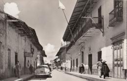 LP29 RPPC Cajamarca Peru, Calle Lima, Street View, real photo   vintage postcard