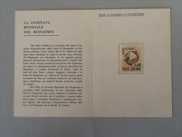 FRANCOBOLLO GIORNATA MONDIALE DEL RISPARMIO L.40-1965-CASSA DI RISPARMIO DI CIVITAVECCHIA - 6. 1946-.. Republik