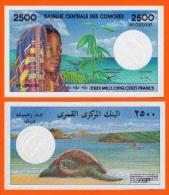 COMOROS  2500 Francs 1997.   (RA001)   REPRODUCTION - Comoren