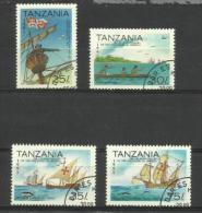 Tanzania - 1992 Discovery Of America (ships) 4 Values  CTO    SG 1347-50  Sc 988-91 - Tanzania (1964-...)
