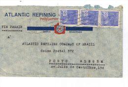 Bel  Affranchissement Sur Lettre Du BRESIL Pour PORTO ALEGRE  (Brésil) 1935 - Brésil