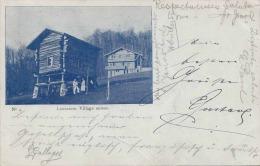 1899 LAUSANNE, VILLAGE SUISSE, RAN IN 1899, RAILWAY POST STAMPS ESSLINGEN, GERMANY, STAMP LUCENS (VAUD) - Schweiz