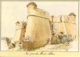 FRANCE : 06 : ## NICE – Fort Du Mont Alban. ##  Dessin D´après Nature Par Michel PERRÉARD. - Monumenten, Gebouwen