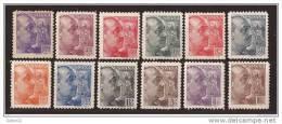 ES867-L3983TCSC.España Spain.Espagne GENERAL FRANCO SANCHEZ-TODA 1939 (Ed 867/78**) Sin Charnela MAGNIFICA - Sin Clasificación