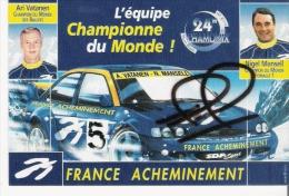 NIGEL MANSELL (1953 UPTON ON SEVERN ..) CHAMPION DU MINDE DE FORMULE 1992 CARTE AVEC AUTOGRAPHE - Autografi