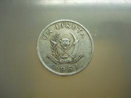 UN LIKUTA - 1967 - AEF - Congo (Democratic Republic 1964-70)