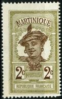 MARTINICA, MARTINIQUE, COLONIA FRANCESE, FRENCH COLONY, 1908-1930, FRANCOBOLLO NUOVO, (MNG) Scott 63 - Martinique (1886-1947)