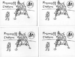 - CHALONS  EN  CHAMPAGNE - Ecole Nationale Supérieure Des Arts Et Métiers -  PROMO 69-73 -   4 Cartes - Cartes