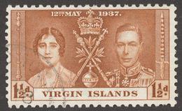 British Virgin Islands 1937 SG# 108 CORONATION - Iles Vièrges Britanniques