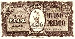 BUONO PREMIO  /   PRODOTTI  ECLA - Milano - [ 2] 1946-… : Républic