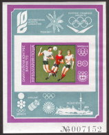 ~~~ Bulgaria 1973 - Soccer Olympiade  Mi. # Block 43 ** MNH IMPERFORATED Violet Border - CV 140.00  ~~~ - Bulgarije